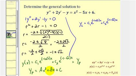 Ex 2: Method of Undetermined Coefficients to Find the