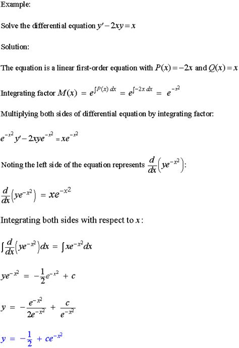 Linear First-Order Differential Equations