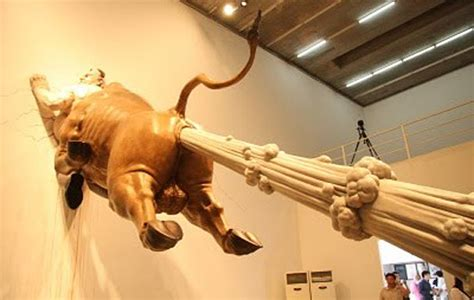 Amazing Bull Fart Sculpture by Chen Wenling | The Design