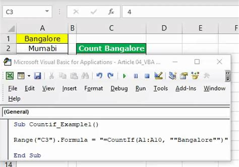 VBA COUNTIF (Examples) | How to use COUNTIF Function in