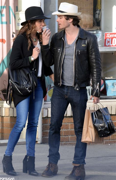Nikki Reed and Ian Somerhalder Take Their Coffee With a