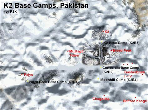 K2 Base Camps Scenery for FSX