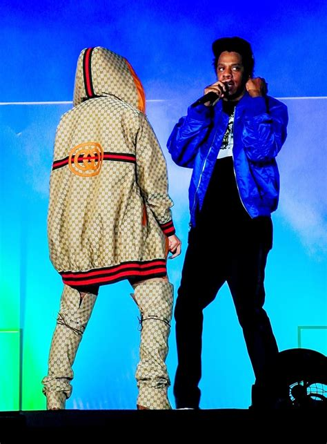 Beyonce Knowles wore a custom Gucci GG hoodie by Dapper