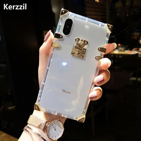 Kerzzil Luxury Clear TPU Case for iPhone X 7 8 Plus Bling