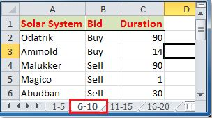 How to split data into multiple worksheets by rows count