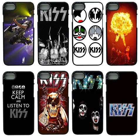 KISS Heavy Rock Band Logo Cell Phone Cases PC Hard Plastic