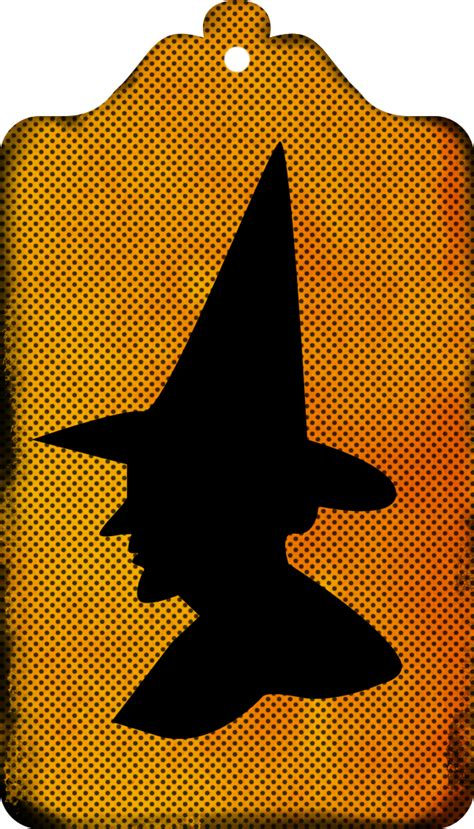Free Witch Silhouette Tags & Clipart   Call Me Victorian