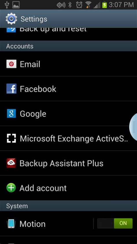 Change Exchange email password on Android (Version 4