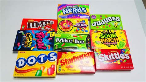 Open candy for kids - Skittles, m&m, dots, and many other