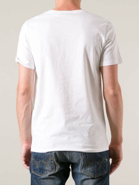 Dead Meat Loose Collar Printed T Shirt in White for Men   Lyst