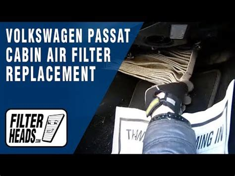 How to Replace Cabin Air Filter Volkswagen Passat - YouTube