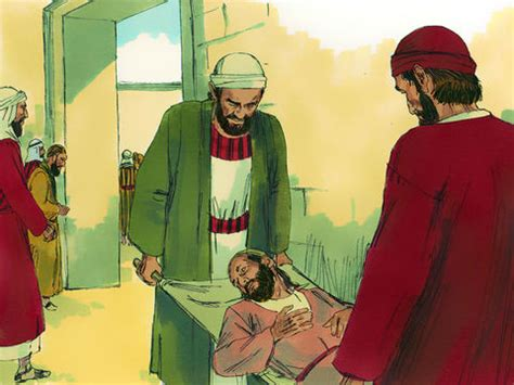 FreeBibleimages :: A lame beggar is healed :: Peter and